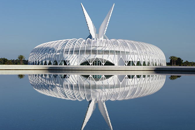 The completed Innovation, Science and Technology Building at Florida Polytechnic University in Lakeland.
