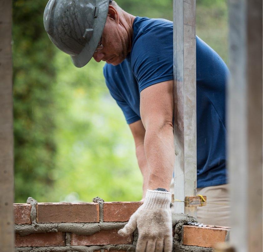 CRH employee on job site