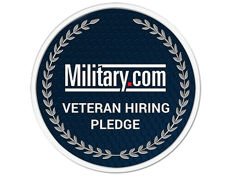 Military.com veteran hiring pledge badge